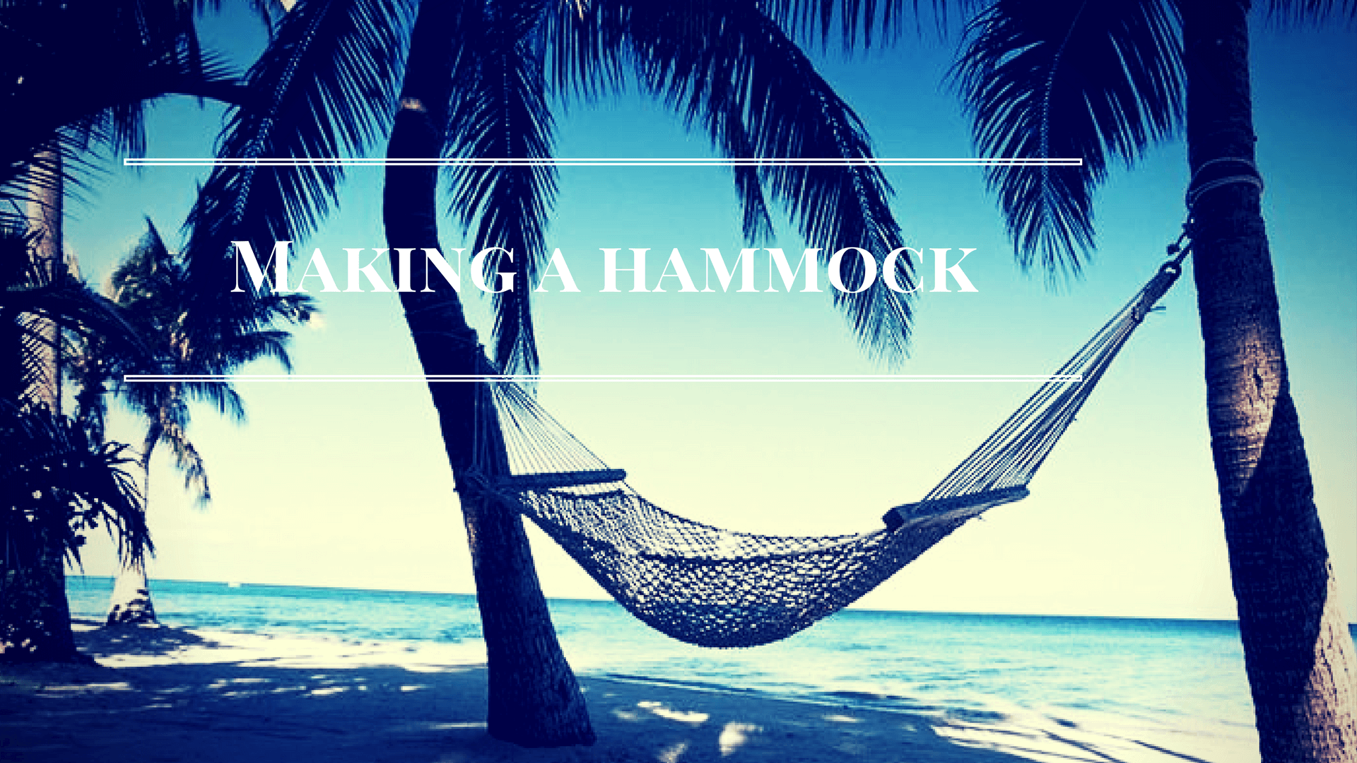 Making a hammock